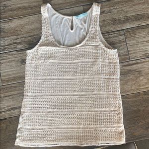 Like new Maurices Cream with gold detail tank